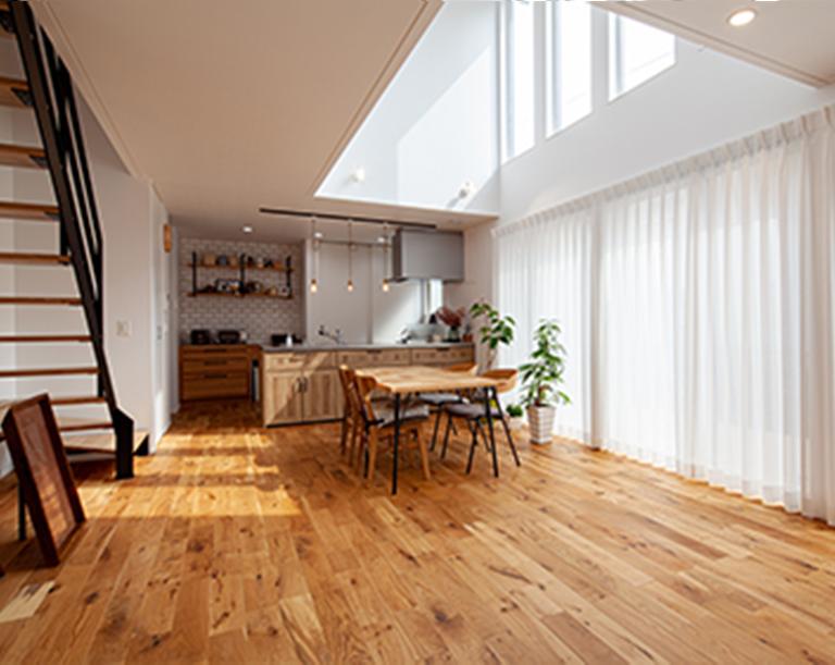無垢材の床など、ハイグレード仕様が標準。